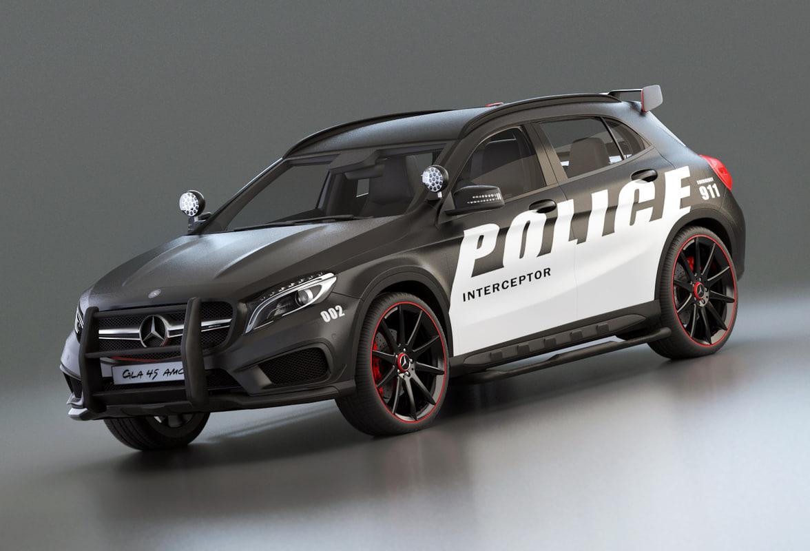3d police patrol gla model