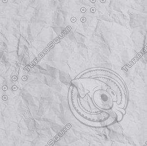 Seamless White crumpled paper Texture