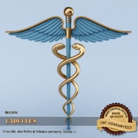 caduceus 3d model