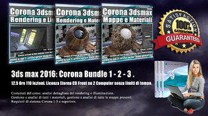 Corona in 3dsmax 2016 Bundle Vol 1 - 2 - 3 - Cd Front