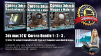 Corona in 3dsmax 2017 Bundle Vol 1 - 2 - 3 - Cd Front