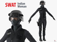 swat indian woman 3d model