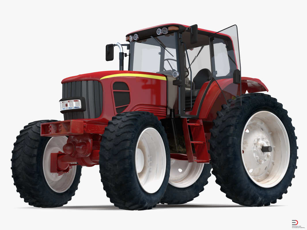 generic tractor rigged 3d max