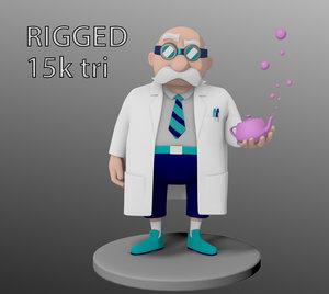 stylized doctor 3D model