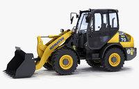 3d wheel loader komatsu wa70-7 model