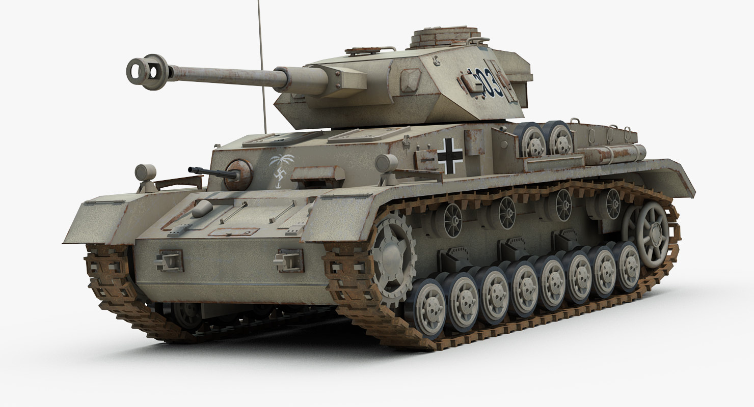 ww2 german tank panzer iv 3d model