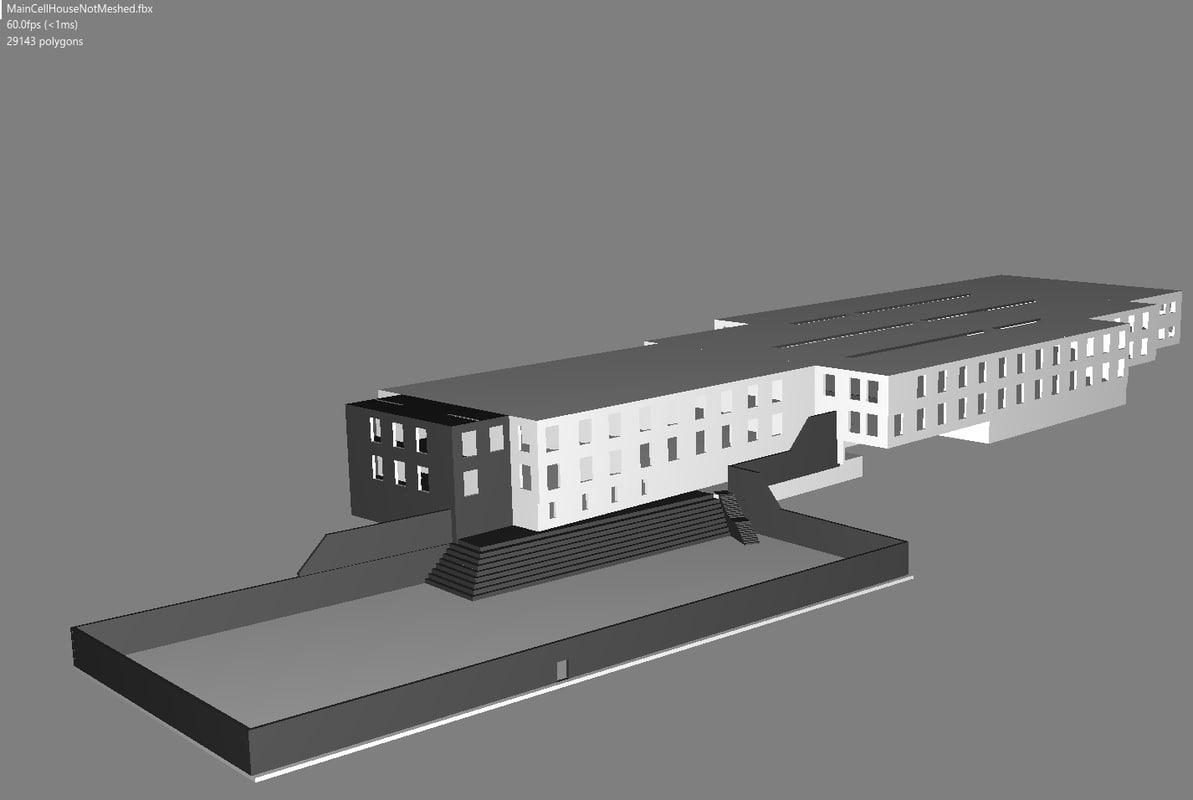 3D alcatraz cell model