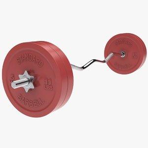 weight bar 3d max
