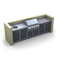 outdoor kitchen 3d lwo