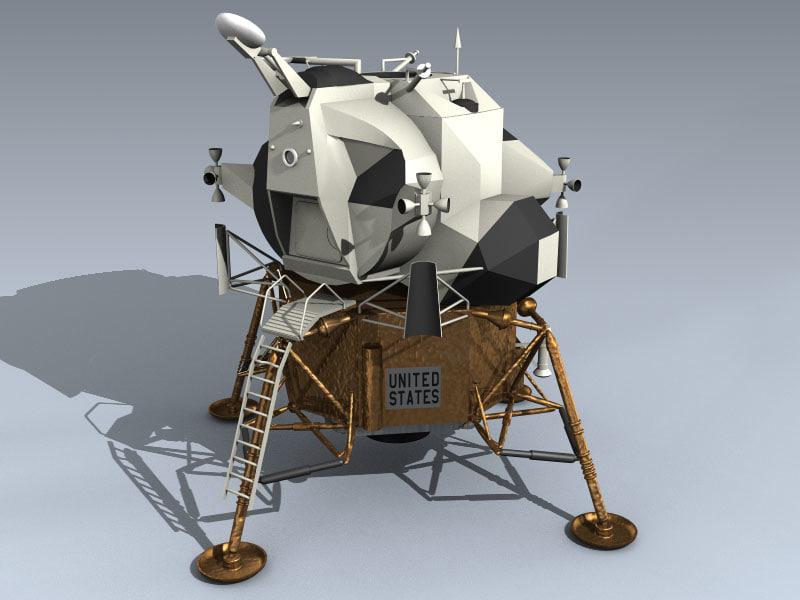 3d eagle lunar lander lem model