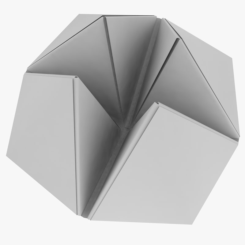 origami fortune teller 3d obj