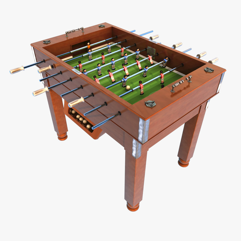 3d model football table