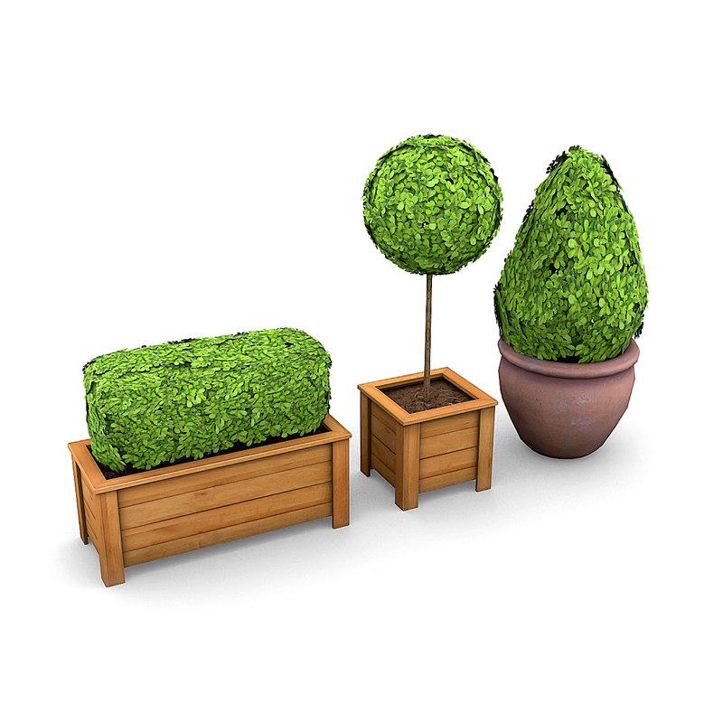 3d model plants potted