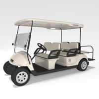 3d model large golf cart