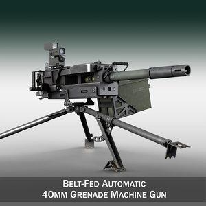- gmg 40mm grenades 3d model