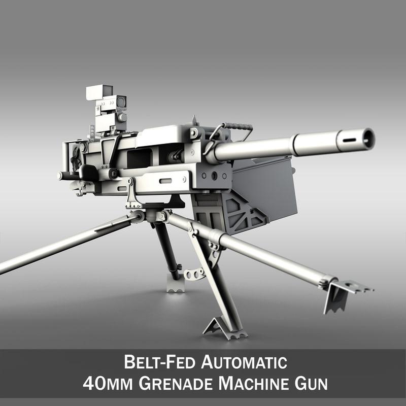 maya gmg 40mm grenades weapon