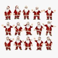 3d model poses santa clause