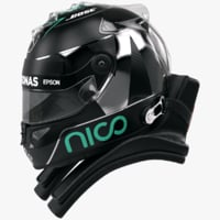3d racing helmet nico rosberg model