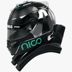 3d racing helmet nico rosberg model