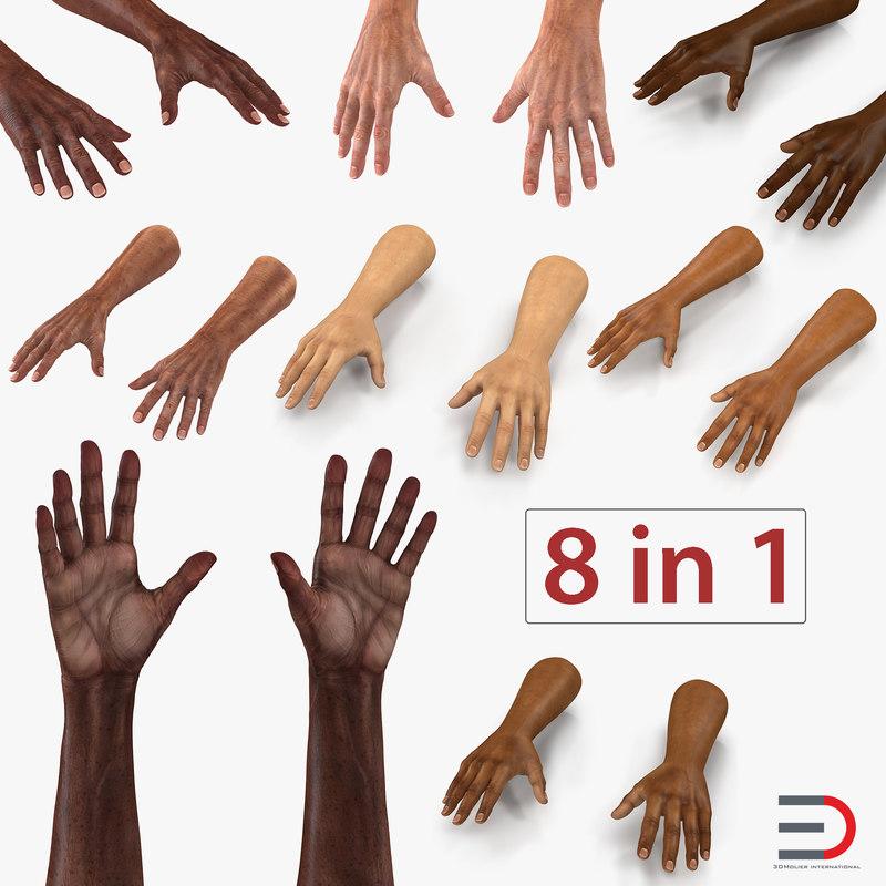 man hands 3D