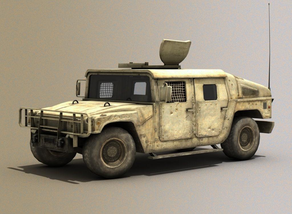 3d model hmmwv humvee hummer military