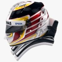racing helmet lewis hamilton obj