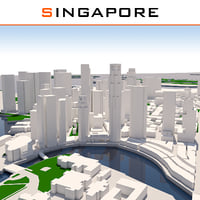 singapore cityscape 3d model