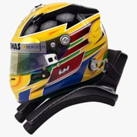 Lewis Hamilton 2013 style motorsport helmet