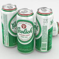 3d model beer grolsch premium lager