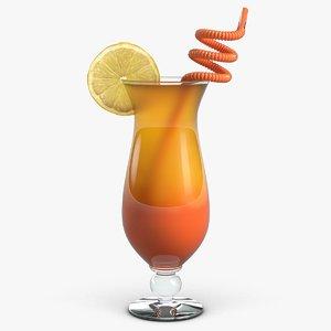 3d model of tequila sunrise