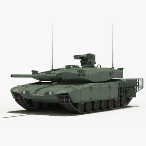 leopard 2 mbt revolution 3d model