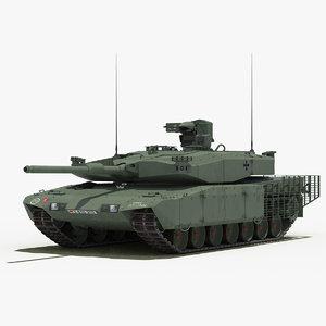 leopard 2 mbt revolution 3d model