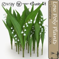 lily convallaria 016 flowering 3d 3ds