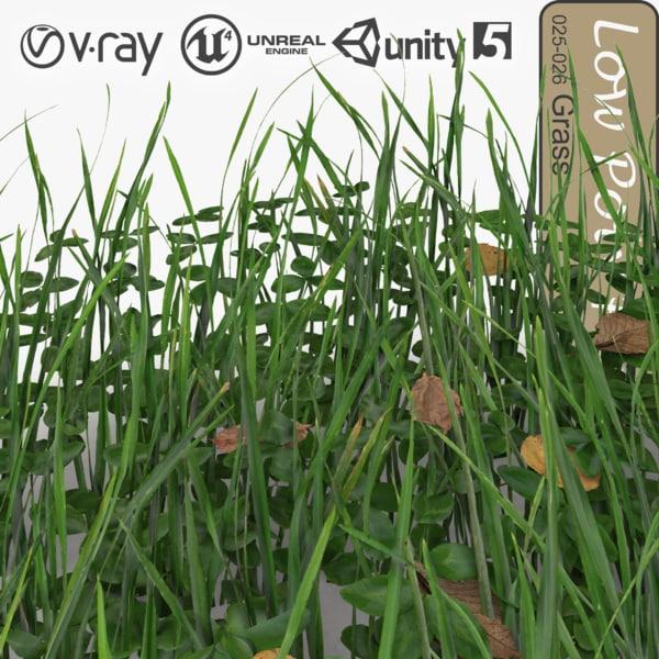 3ds max grassy plant grass 011