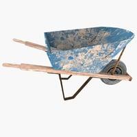 Low Poly Steel Wheelbarrow