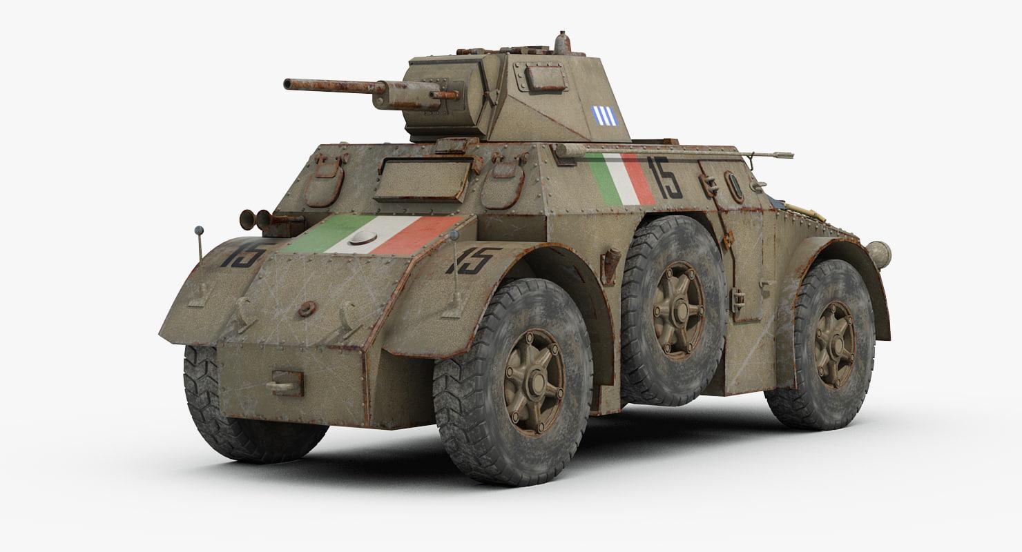 3d Model Ww2 Autoblinda Ab41