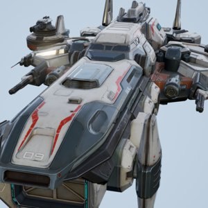 carrier spacecraft spaceship 3d model