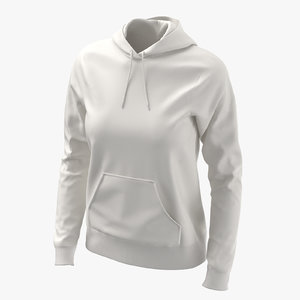 female fitted hoodie body 3D