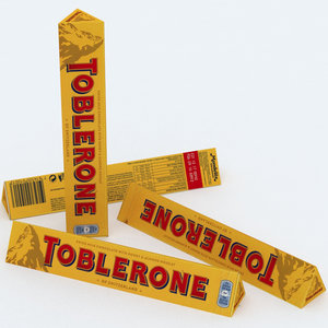 toblerone chocolate bar 100g 3d model