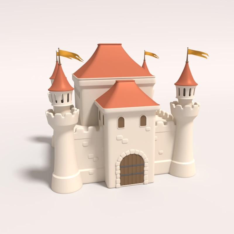 medieval castle obj