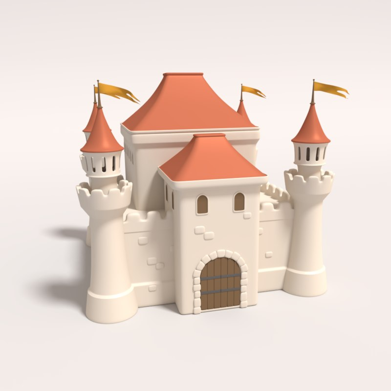 3d model medieval fortress