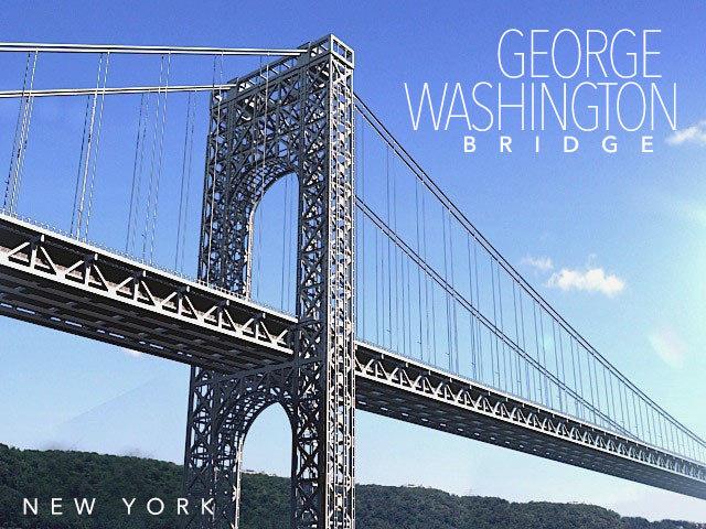 george washington bridge 3d model