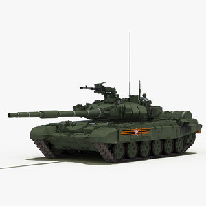 t-90a tank 3d model
