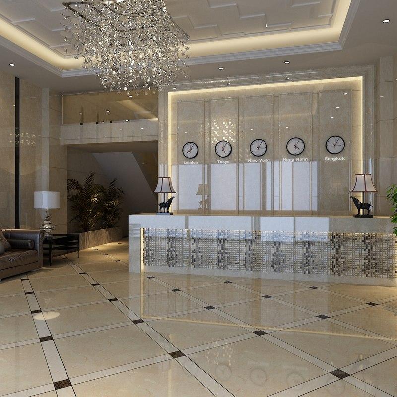Hotel lobby furniture - 3d Model Hotel Lobby