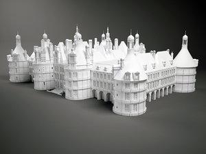chateau castle 3d max