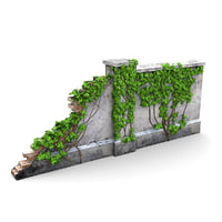fencing wall ivy vines 3d max