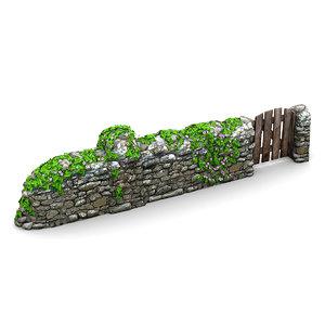 lightwave stone wall vines