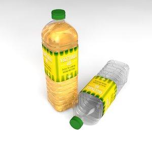 3d cooking oil bottle