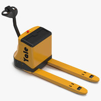 max powered pallet jack yellow