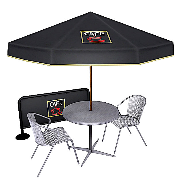 3dsmax cafe table